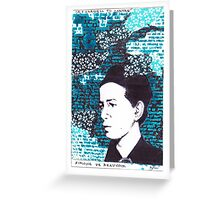 Simone De Beauvoir Greeting Card