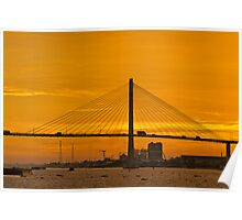 Mekong Delta Sunset 1 Poster