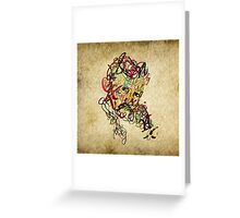 Typo Nikola Tesla design Greeting Card