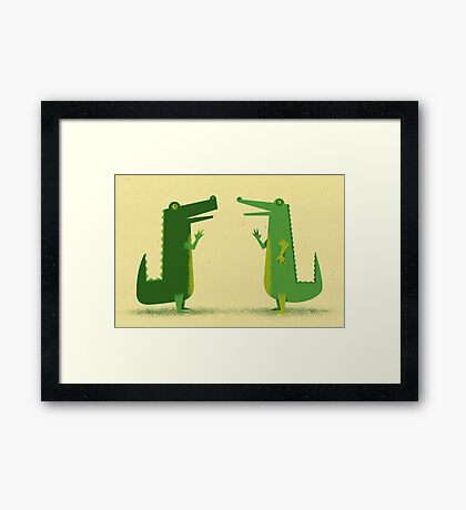 Later Gator Framed Print