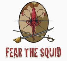 Fear the Squid - Left Breast  by SandSquid