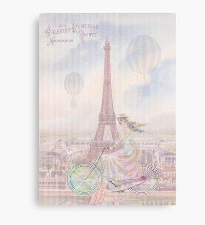Bicycling through Paris Canvas Print