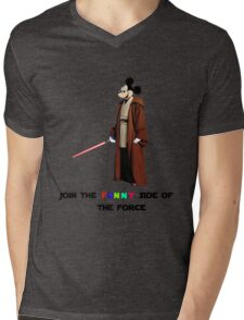 Join the funny side of the force Mens V-Neck T-Shirt