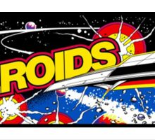 Asteroids Arcade Sticker