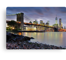 Sunset in Dumbo Canvas Print