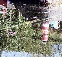 Reflections - Bondville Model Village harbour by Merice  Ewart-Marshall - LFA