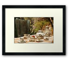 A Mad Tea Party - Alice In Wonderland Art Framed Print