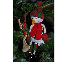 Snowman in the tree Photographic Print