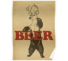 BEAR + DEER = BEER Poster