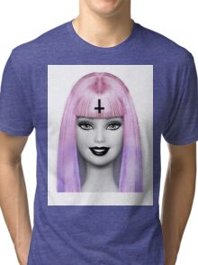 GRUNGE BARBIE Tri-blend T-Shirt