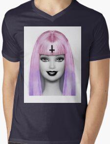GRUNGE BARBIE Mens V-Neck T-Shirt