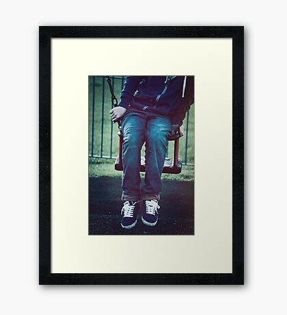 Wrong Fit Framed Print