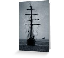Tall Ship Becalmed Greeting Card