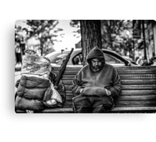 Homeless in Small Town Canvas Print