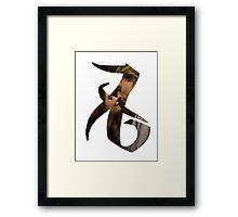 Clace agape (love) rune Framed Print