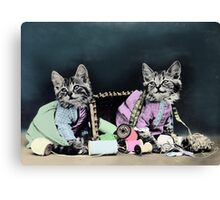 Naughty Kittens Canvas Print