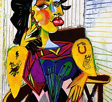 Amy as Portrait of Dora Maar by Pablo Picasso by PrivateVices