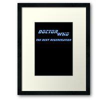 Doctor Who - The Next Regeneration Framed Print