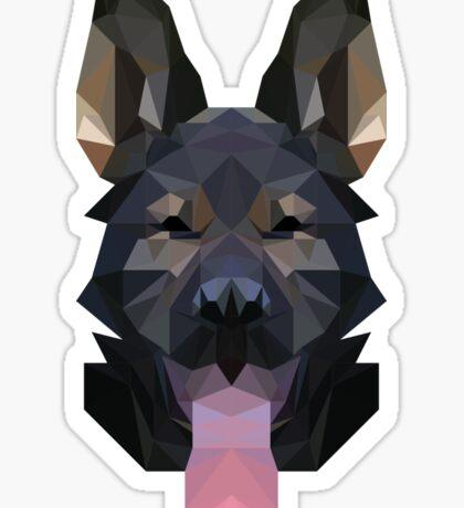 Low Poly German Shepherd Sticker