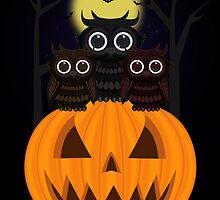 Jack O lantern & Owls by Adamzworld