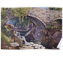Watercolour of a bridge at Betws y Coed, 1874 Poster