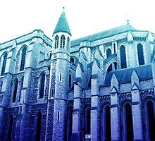 london church, in blue by sebmcnulty