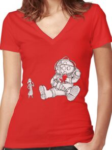 BIOPOOH Women's Fitted V-Neck T-Shirt