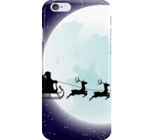 Flying Santa and Full Moon iPhone Case/Skin