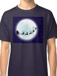 Flying Santa and Full Moon Classic T-Shirt