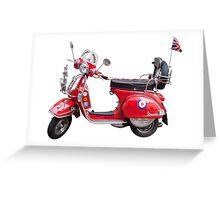 Mod Moped Greeting Card