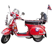 Mod Moped Photographic Print