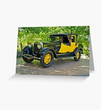 1927 Lincoln Coaching Brougham I Greeting Card