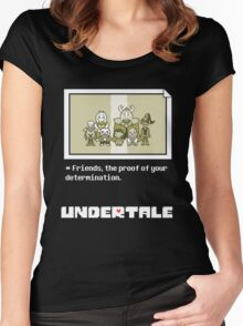 Undertale characters Women's Fitted Scoop T-Shirt