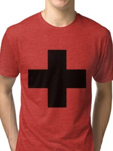Oversized Apothecary Cross Tri-blend T-Shirt