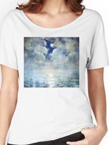 Moonlight Seascape Women's Relaxed Fit T-Shirt