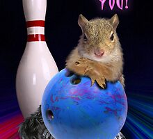 Thank You Bowling Squirrel by jkartlife
