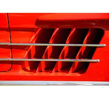 Mercedes RED Photographic Print