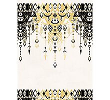 Modern Deco in Black and Cream Photographic Print