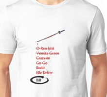 Kill Bill check list Unisex T-Shirt