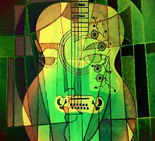 5161 Guitar with Fcae by AnkhaDesh