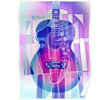 5161i Guitar with Face Poster