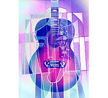 5161i Guitar with Face Photographic Print