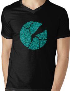 Breaking Bad Cracked Plate - Blue Mens V-Neck T-Shirt
