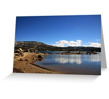 Sandy Silver Lake Greeting Card