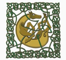 Celtic Illumination - Horse Knot II by William Martin