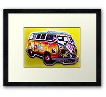 Love bus Framed Print