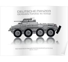 Sd. Kfz. 234/1 - German tank - Heavy armored reconnaissance cars - 2.0 cm Poster