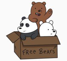 We Bare Bear Cubs Kids Tee