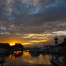 Sunset in Harbor Town by Kent Nickell