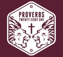 Proverbs 28:1 Ragnar Supporters Hexagon by keirstenmachine